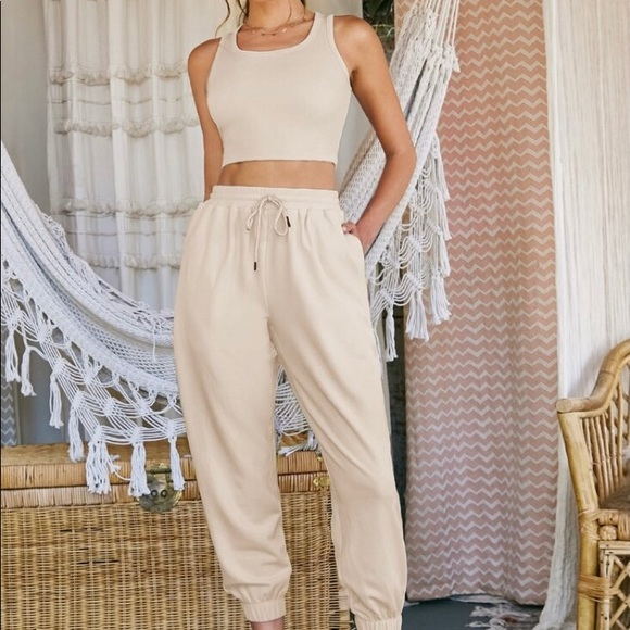 Shein tank top and sweatpants set